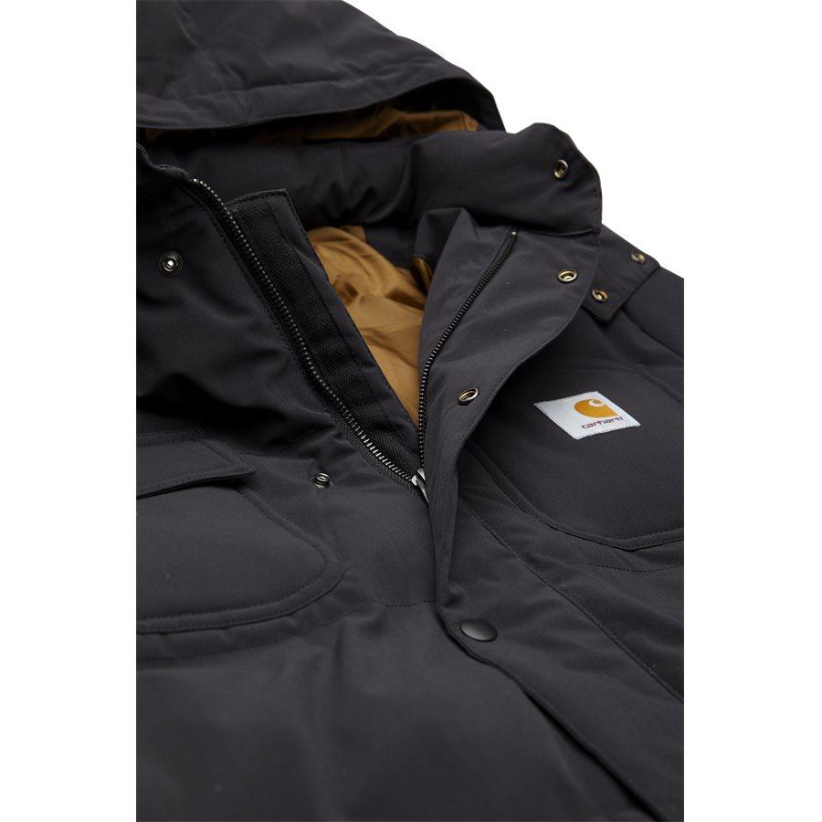 ALPINE COAT I023081 - Alpine Coat - Jakker - Regular - BLK/HAM. BROWN - 7